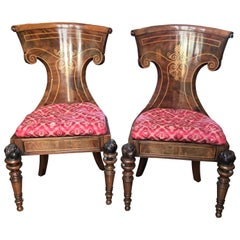19th Century Russian Officer Chairs for a Desk Side Chair Hallway Neoclassical