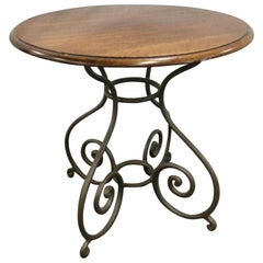 Round Pedestal Metal Base Side Table