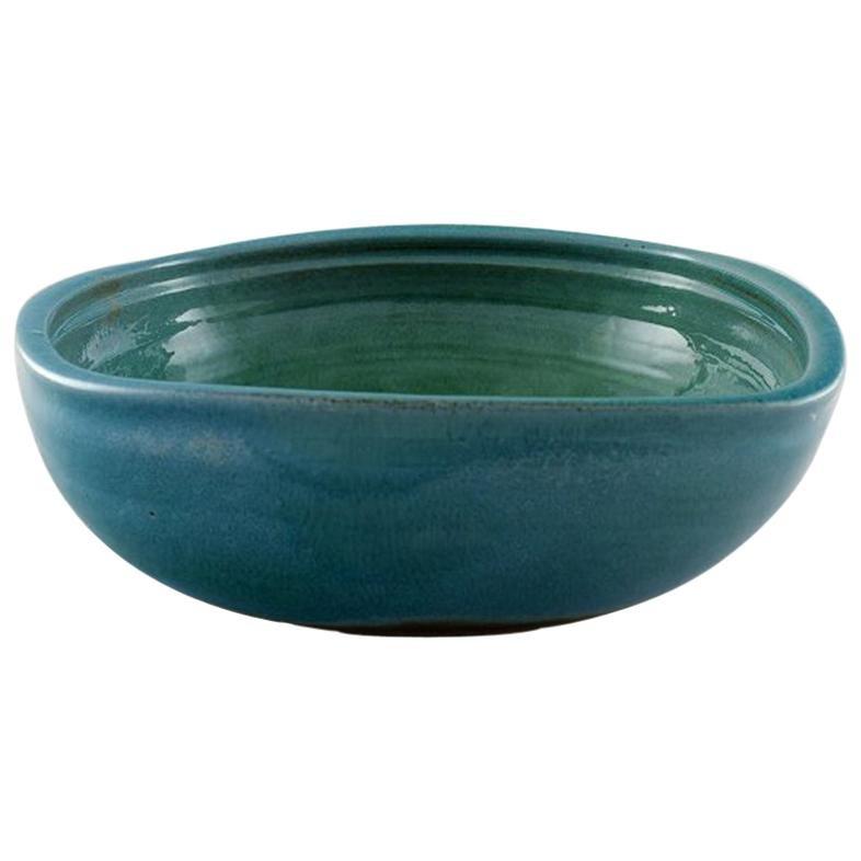 Helle Alpass Bowl of Glazed Stoneware, 1960s-1970s