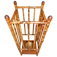 English 1920s Antique Bamboo Umbrella Stand