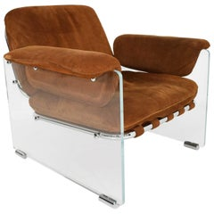 Pace Collection Argenta Lucite Lounge Chair