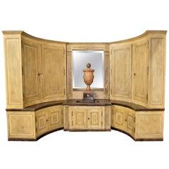 Empire/Charles X Enfilade Boiserie Buffet Lavabo Alcove Fountain Cabinet
