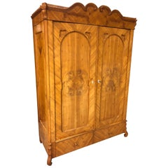 Vintage Wood Two-Door Storage Armoire