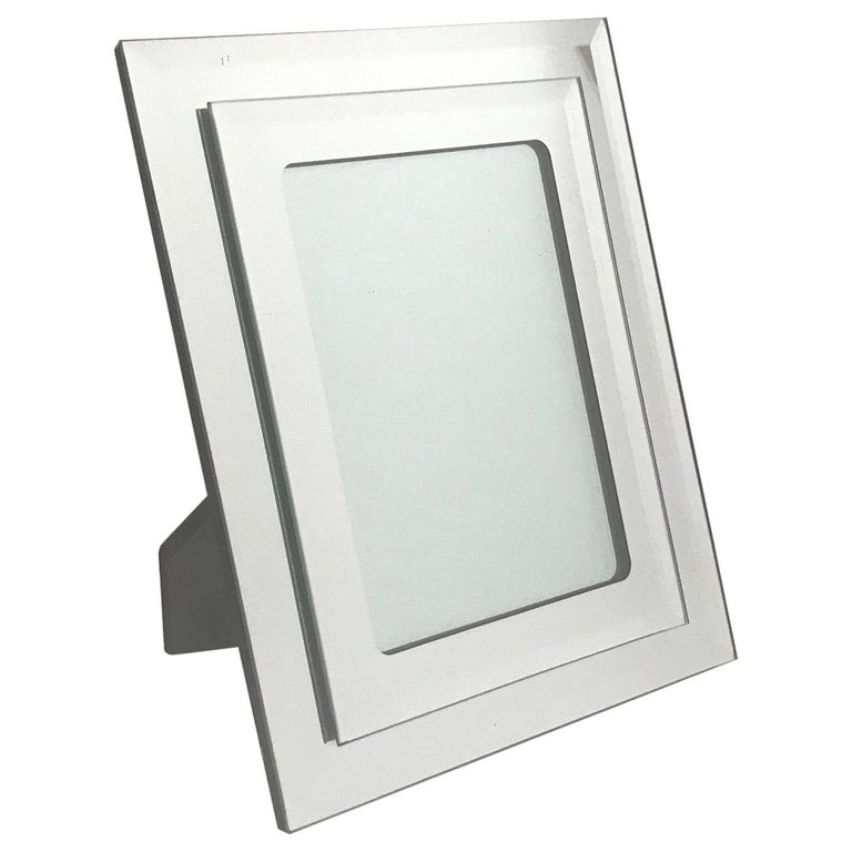 1970s Vintage Mirrored Picture Frame For Sale