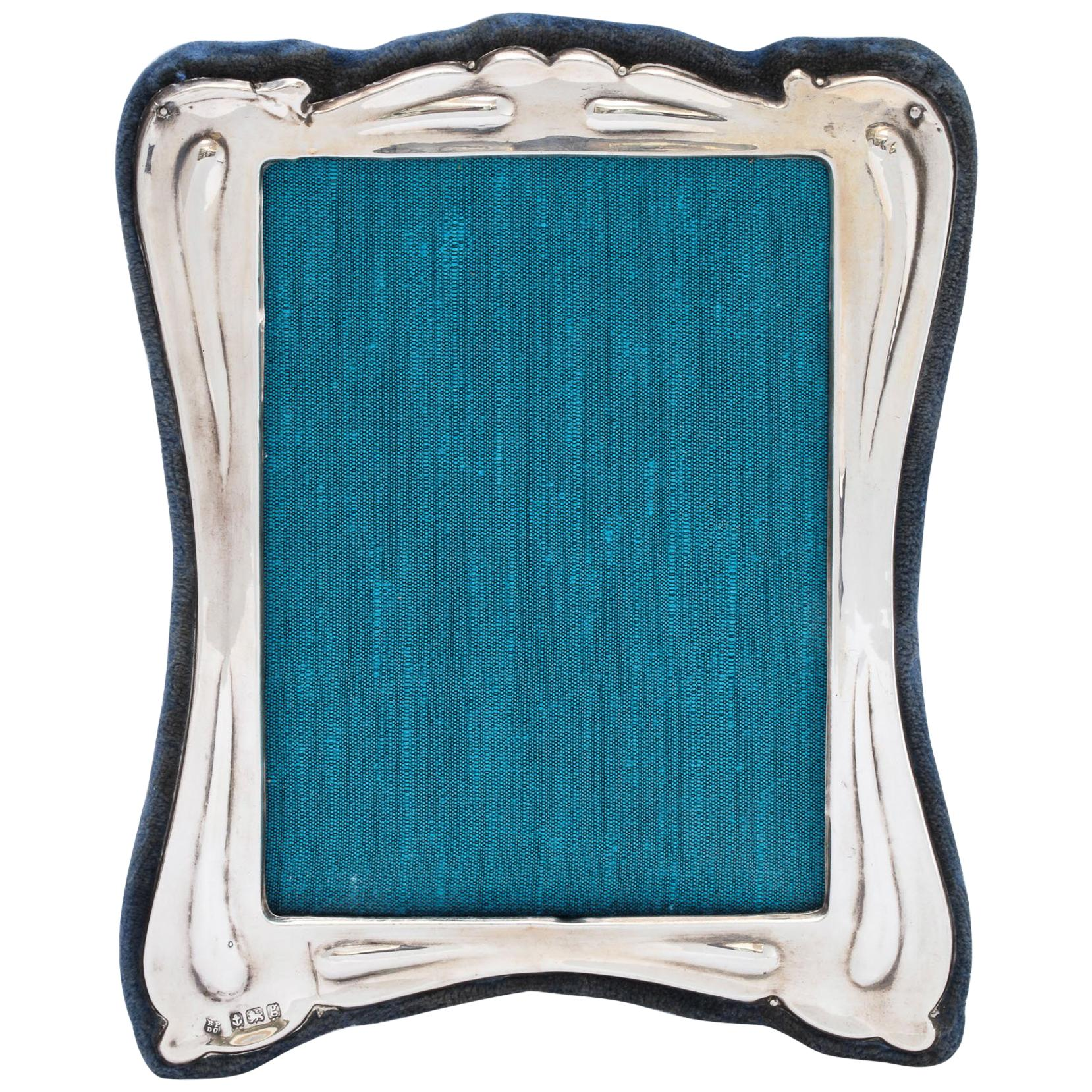 Art Nouveau Sterling Silver Picture Frame