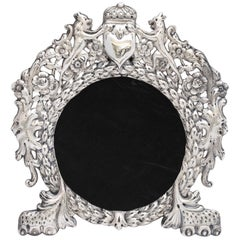 Unusual Victorian All-Sterling Silver Lion's Paw-Footed Picture Frame
