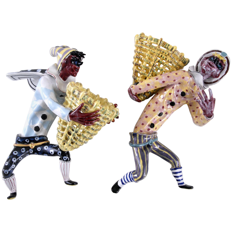Otello Rosa Designed Pair of Harlequin Wall Lights San Polo Venezia, Italy