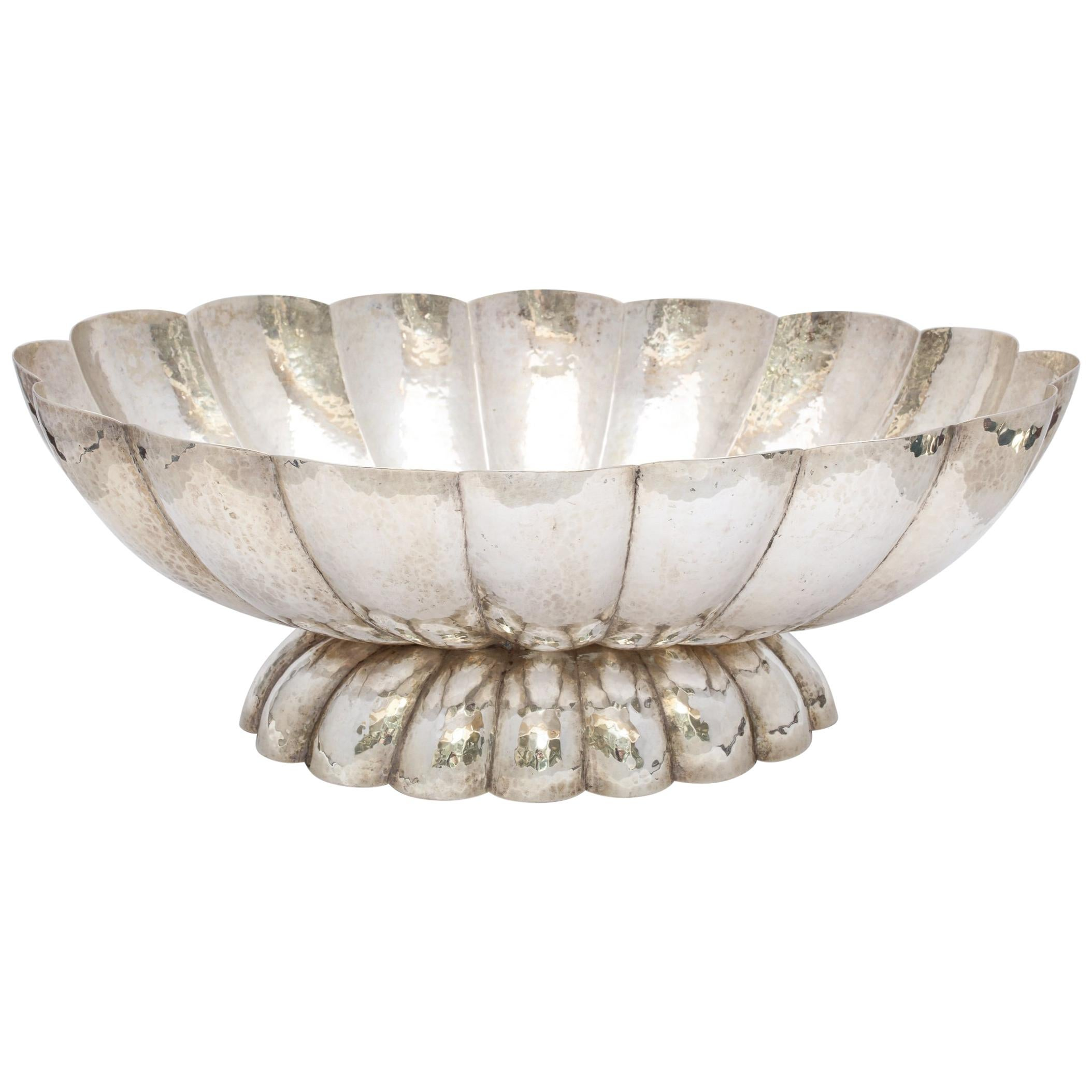 Art Deco Continental Silver '.800' Centerpiece Bowl by Bruder Frank