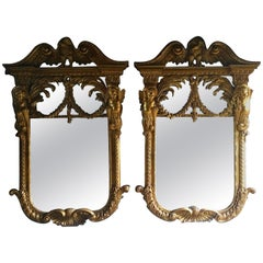 Antique Wall Mirrors Giltwood Antique William Kent Style French Rococo
