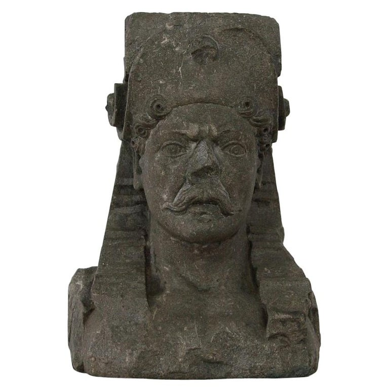 Early 17th Century Carved Stone Renaissance Bust For Sale