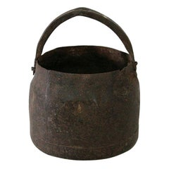Primitive 18th Century Hand Forged Iron Cooking Pot
