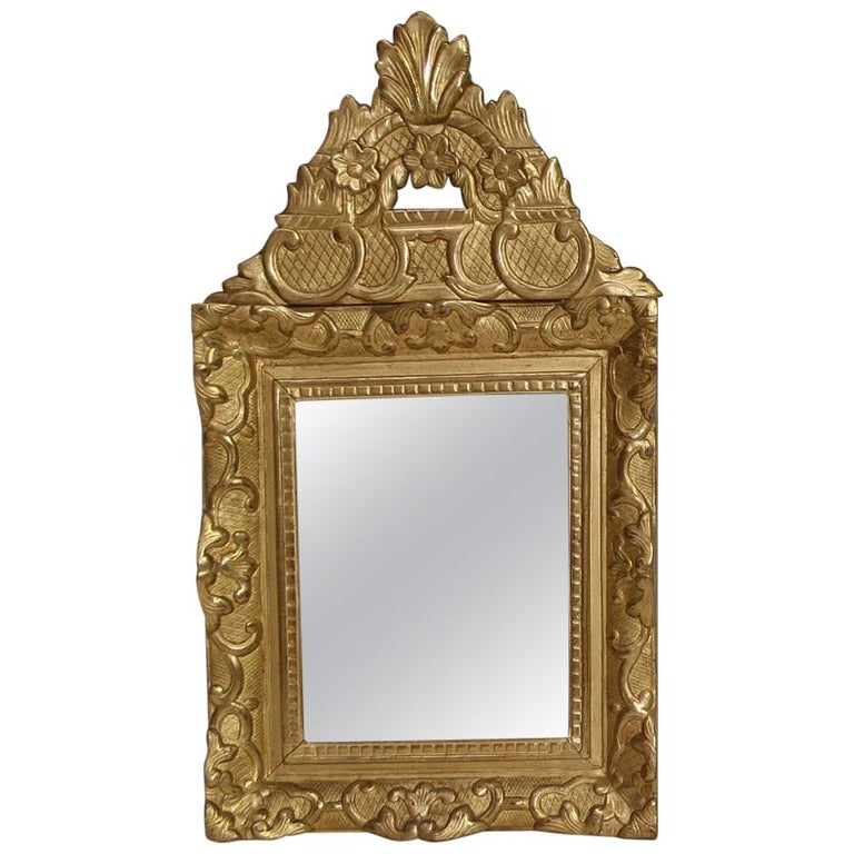 19th Century French Louis XV Style Baroque Giltwood Mirror For Sale