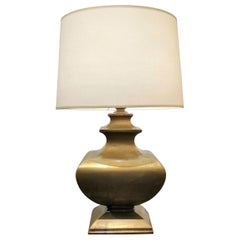 Solid Bronze Table Lamp, France, 1970s