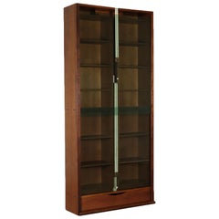 Walnut Veneered Bookcase by Carlo Scarpa for Bernin, Italy, 1970s-1980s