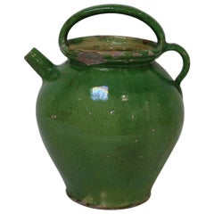 19th Century, French Terracotta Jug / Water Cruche