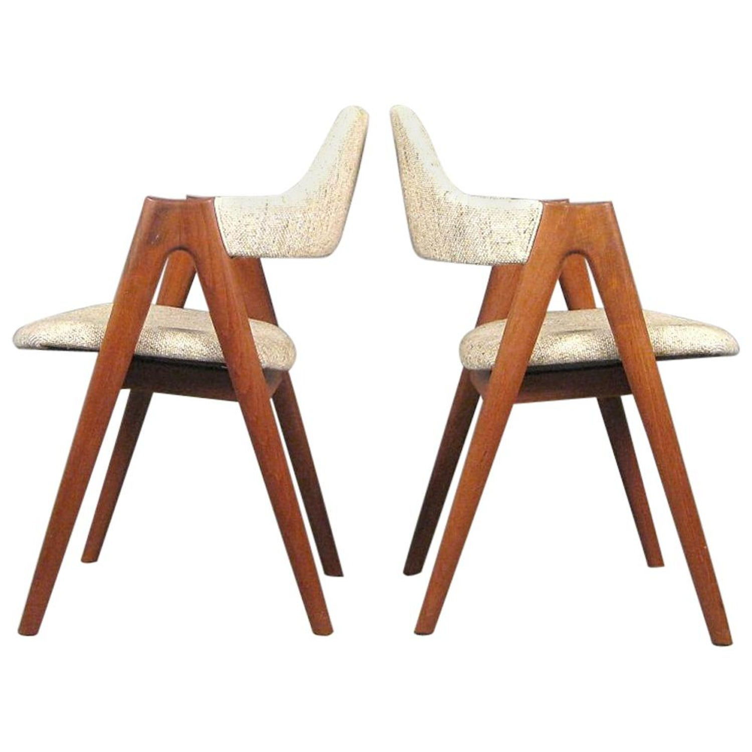 1960s Set Of Two Kai Kristiansen Teak Compass Chairs Choice Of Upholstery