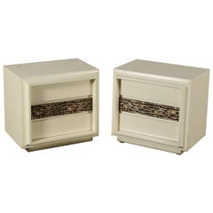 Pair of Bedside Tables by Luciano Frigerio Vintage Italy, 1960s-1970s