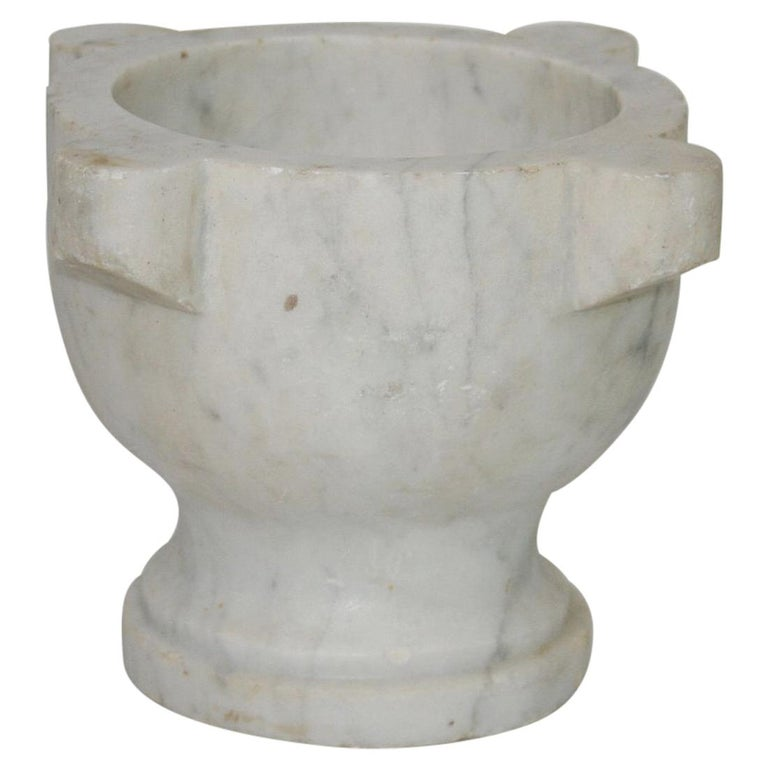 19th Century French Marble Mortar For Sale