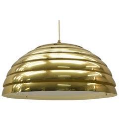 Large Brass Pendant Lamp by Vereinigte Werkstätten München in 1960s, Germany