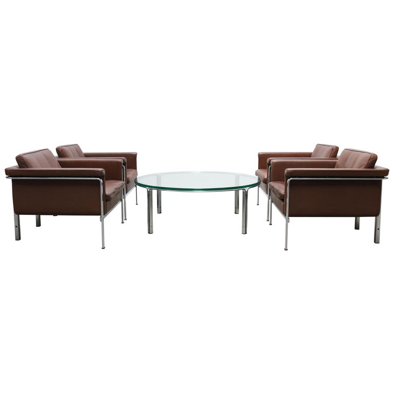 Rare Set of Lounge Chairs & Coffee Table by Horst Bruning for Kill International For Sale