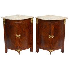 Louis XVI Corner Cupboards