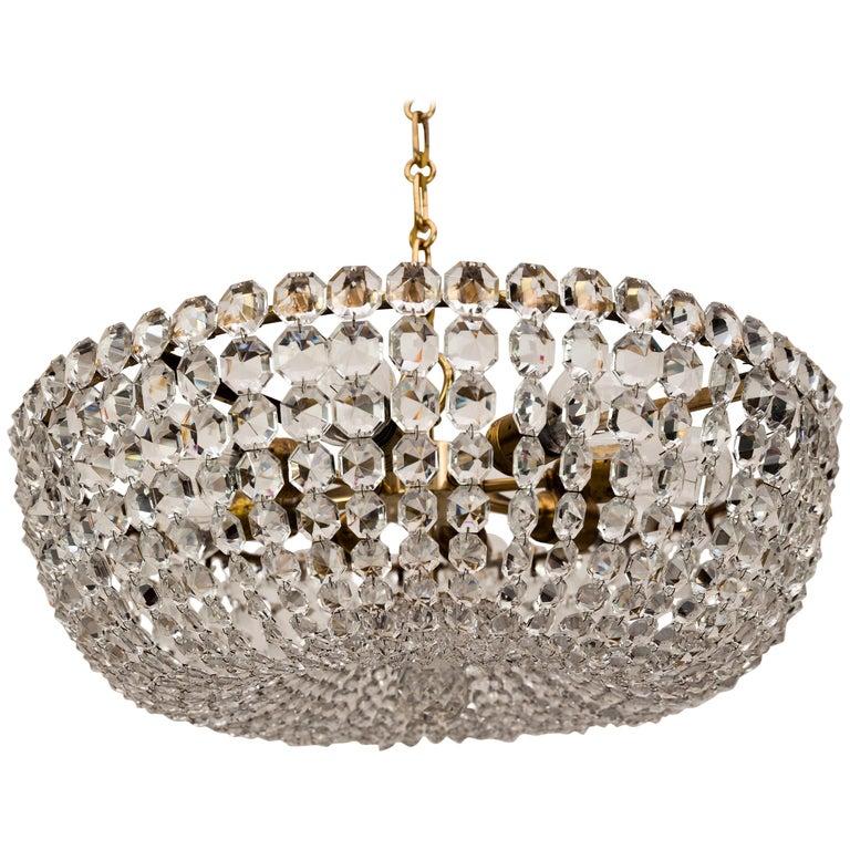 J.L Lobmeyr chandelier around 1950s ( Signed ) For Sale