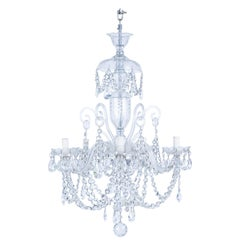 Bohemian Crystal Chandelier with 5 Arms