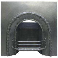 Reclaimed Victorian Cast Iron Arched Fireplace Insert
