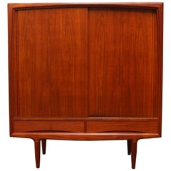 Magnificent Danish Highboard / Cabinet by Gunni Omann for Aco Mobler 1950s Teak