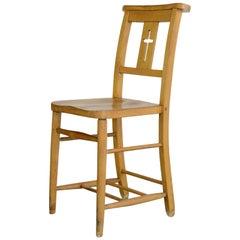 English Elm Chapel Chairs, circa 1950s