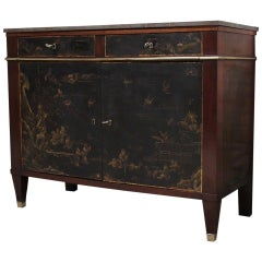 Early 19th Century French Buffet with Chinese Lacquer