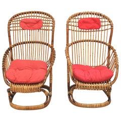 Tito Agnoli Set of 2 Midcentury Italian Armchair for Bonacina, 1959