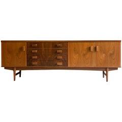 Midcentury Rosewood and Teak Sideboard BCM British Cabinet Makers, circa 1960