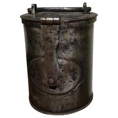 17th Century Collect Pot in Iron Beggar Pot Money Box