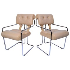 Pace Collection Tucroma Dining Chairs Designed by Guido Faleschini, Pair