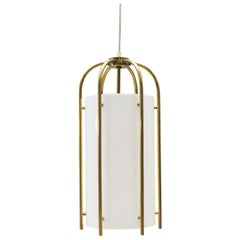 Large Brass and Plexiglass Church Pendant Lamp, Germany, 1960s