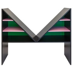 Chapel Petrassi Contemporary Bookcase Black Bikini Lacquered Wood