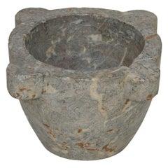 French 18th-19th Century Grey Marble Mortar