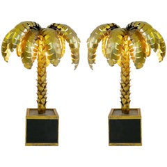Pair of Palm Tree Table Lamps