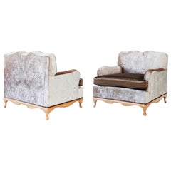 Pair of Syrie Maugham Style Club Chairs, circa 1940