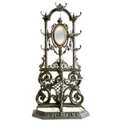 19th Century Nap III Cast Iron Coat and Hat Stand by Frères Corneau