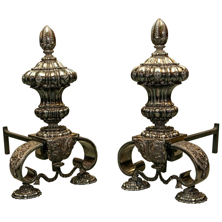 Rare and Exceptional Edward F. Caldwell & Co. Baroque Style Silvered Bronze Andi For Sale