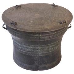 Burmese Karen Bronze Frog Drum