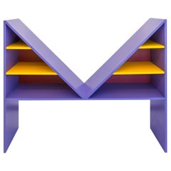 Chapel Petrassi Contemporary Bookcase Purple Bikini Lacquered Wood