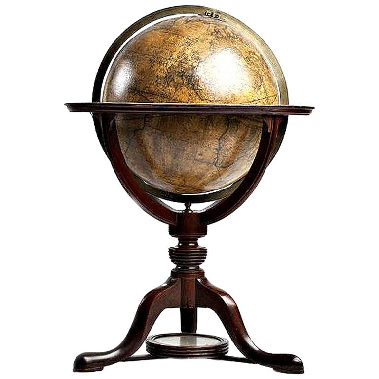 Terrestrial Globe, Signed Cary, London, 1789
