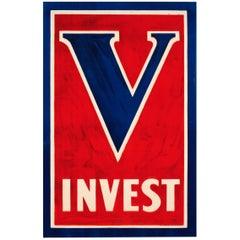 Original Antique World War One Poster V Invest US Victory Bonds & Liberty Loans