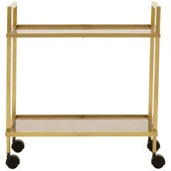 French Midcentury Brass Bar Cart