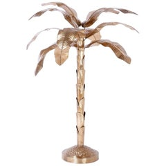 Midcentury Brass Palm or Banana Tree
