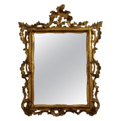 Gilt and Carved Wood Framed Mirror, Italian circa 1800