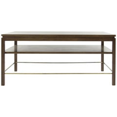 Edward Wormley for Dunbar Brass Stretcher Coffee Table, 1950s